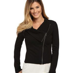 Two by Vince Camuto Assymetrical Zip Moto Jacket S